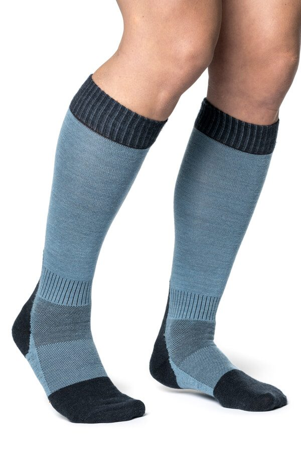 Socks Skilled Liner Knee-high Blue
