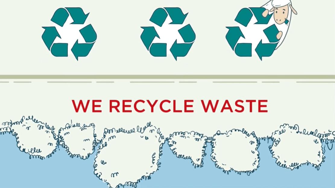 Woolpower återvinner spillmaterial